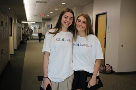 Izzy Avedesian and Livie Golub on the first day of school.