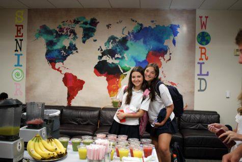 Jadyn Grossman and Bz Graubart on the first day of school.