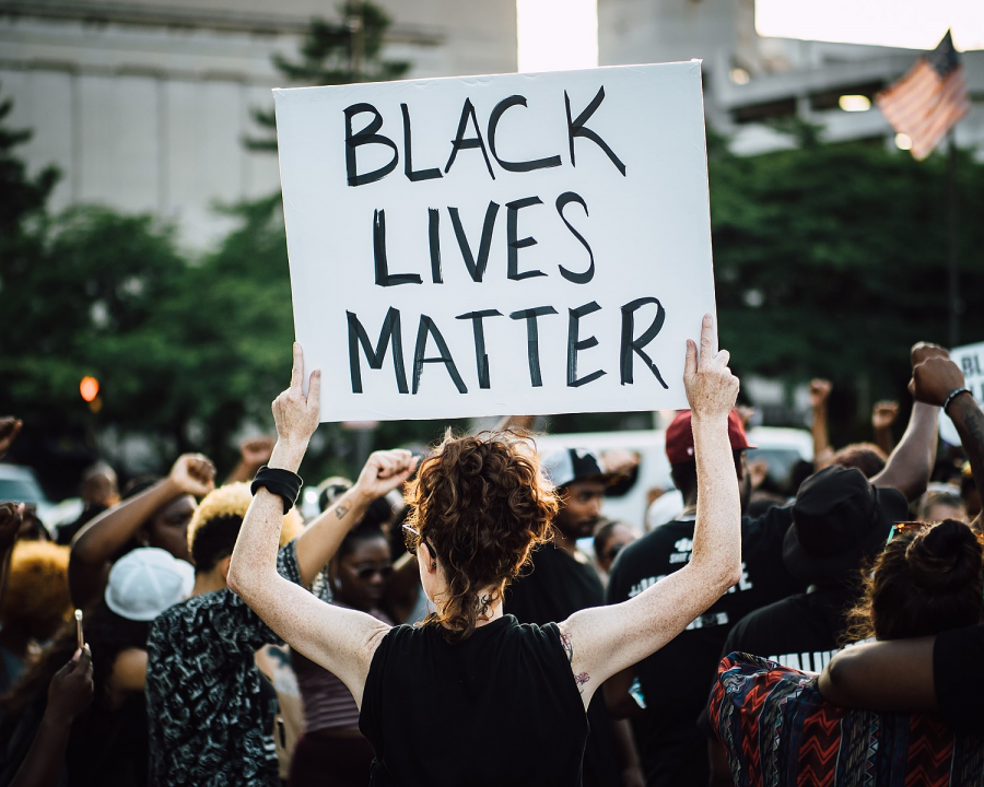 Black Lives Matter  protest in Baltimore during the nationwide protests.