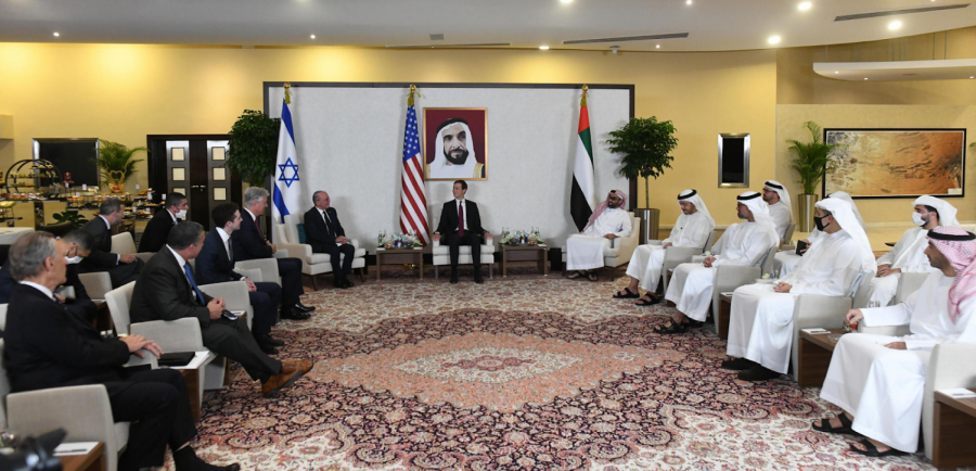 A+meeting+between+representatives+from+Israel%2C+the+UAE%2C+and+the