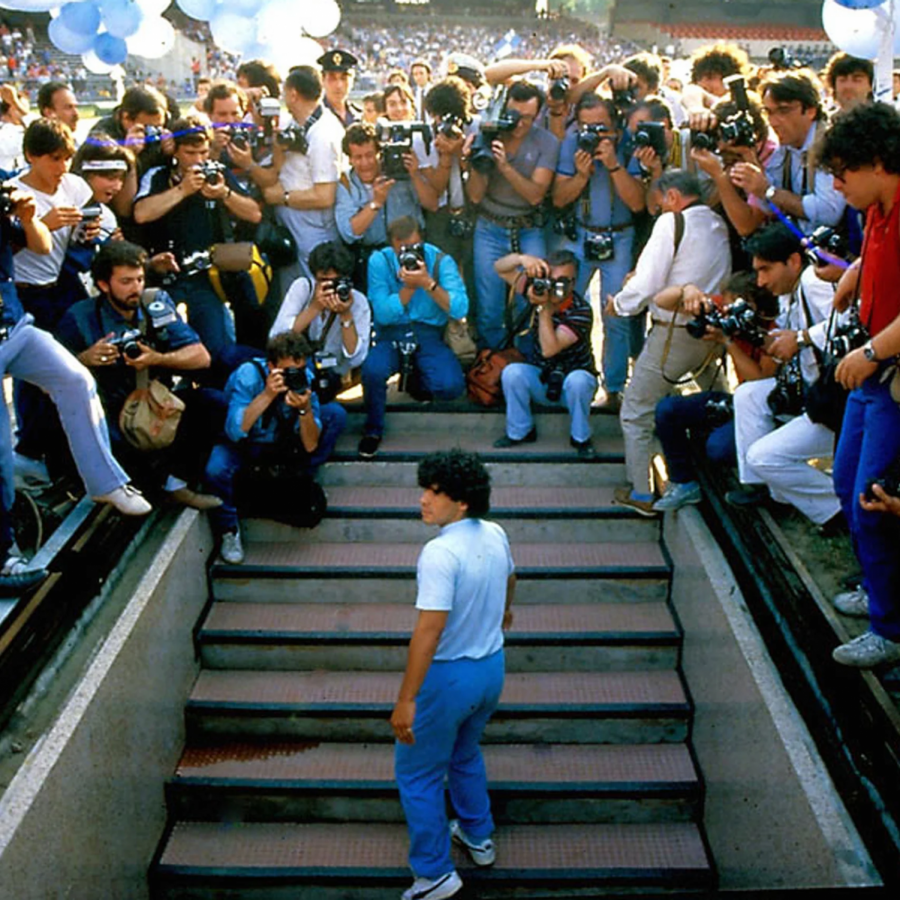 Maradona+after+signing+with+SSC+Napoli+